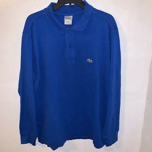 Lacoste Men's Long Sleeve Polo Shirt Size 6 Large